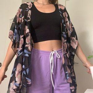 Floral kimono/cardigan